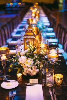 Dark Wooden Farm Tables - Dining Height