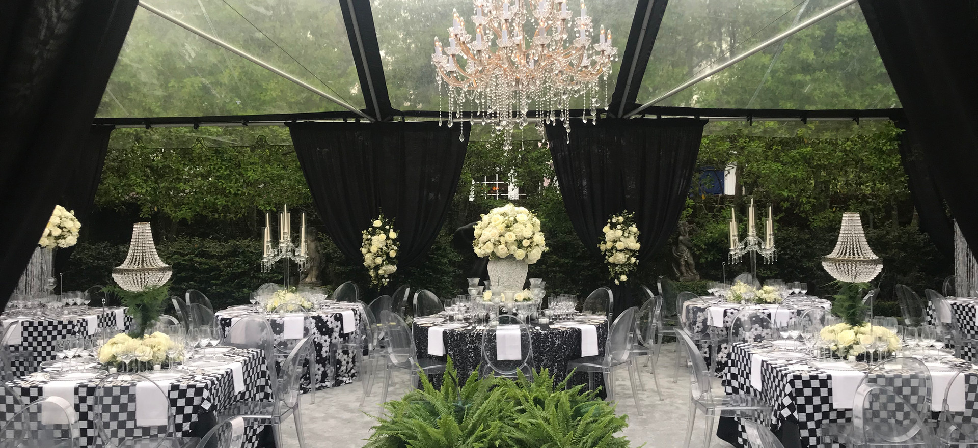 Chandeliers, Centerpieces, Custom Bars and more