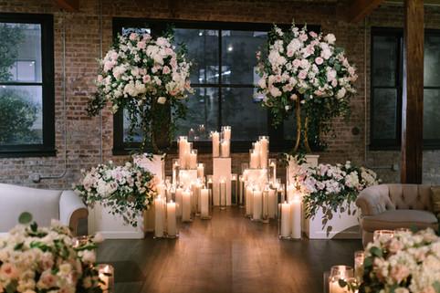 Lush Clear Cylinder Altar
