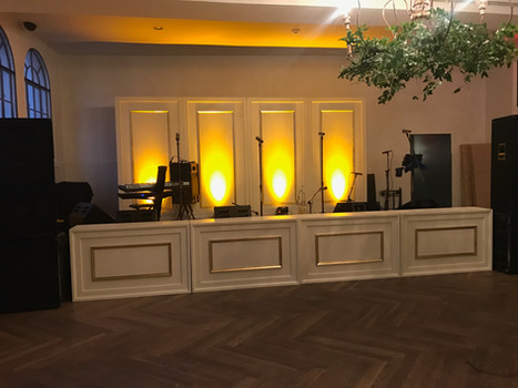 Ivory and Gold Stage Fronts and Backs