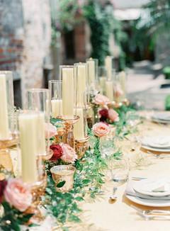 Rose Gold Candlesticks