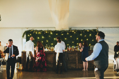 Reclaimed Wood Bar with Hedge Bar Back