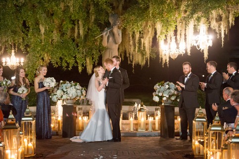 Chandeliers, Gold Decorative Lanterns and Clear Cylinders