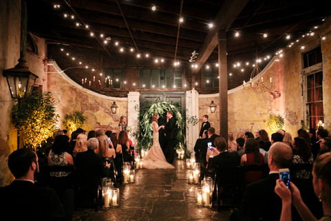 Festoon Lighting, Arch and Clear Cylinders