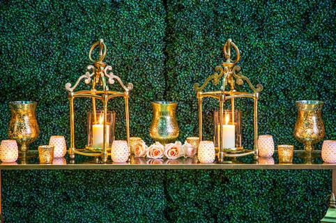Gold Open Scroll Lanterns