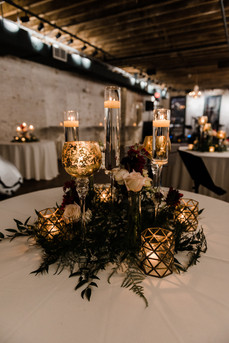 Gold Leaf and Chimney Stem Candles