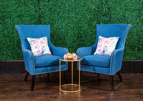 Blue Kennedy Armchairs
