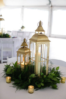 Gold Decorative Lantern Centerpiece