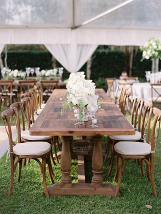 Reclaimed Wood Farm Tables
