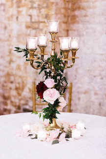 Petite Candelabra with Floral Details