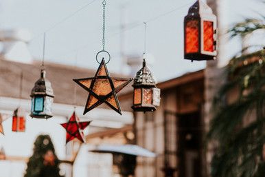 Colorful Moroccan Stars and Lanterns