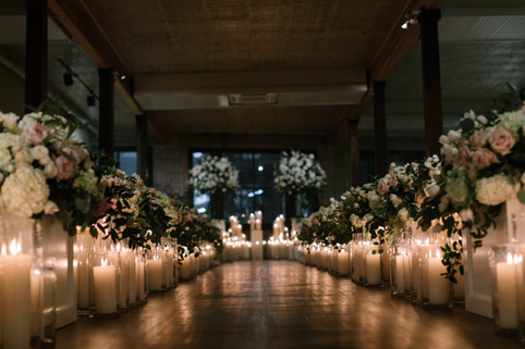 Clear Pillar Ceremony Aisle Candles