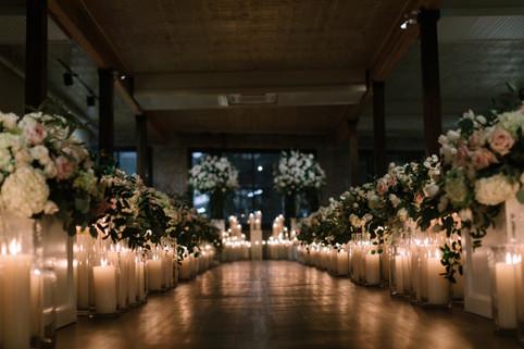 Clear Pillar Ceremony Aisle Candles