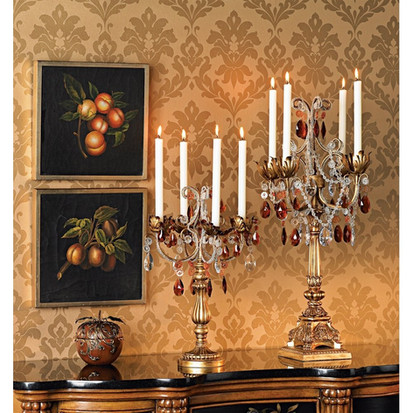 Beaded Bronze Candelabras