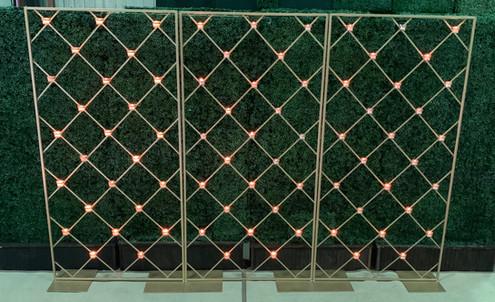 Brass Lattice Votive Screen Walls