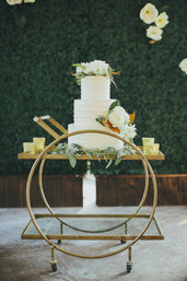 Hedge Wall Cake Table Backdrop