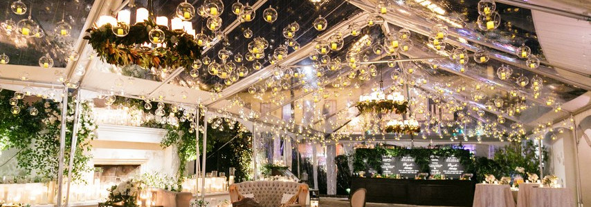 Bubble Lights, Pillar Chandeliers and Candles!
