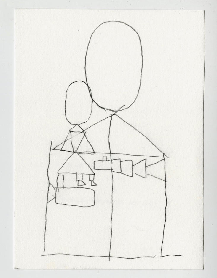 """She Who Shows the Way 2021 Pencil on paper 6"""" x 4 1/2"""""""
