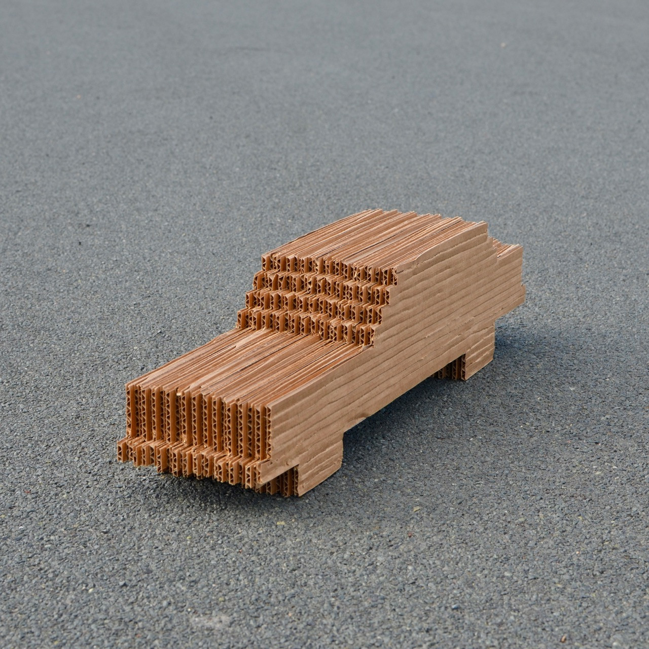 "The Car 2019. Cardboard, 5 1/4"" x 19 1/2"" x 4 1/2"""