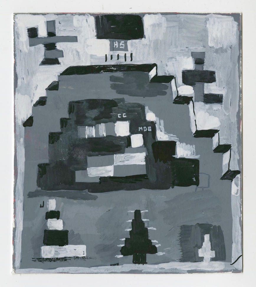 "Nativity 2020 Gouache on paper 5 3/4"" x 5"""