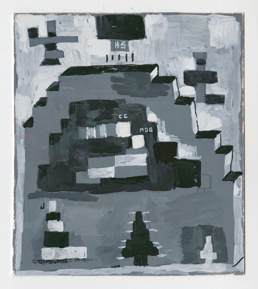 "Nativity 2020 Gouache on paper 5 3/4"" x 5"""