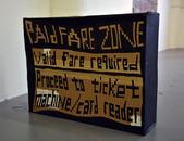 """Paid Fair Zone 2017 Acrylic on cardboard 22"""" x 28"""" x 8"""""""
