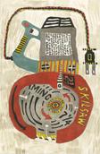 """Wheel Within a Wheel #34 2014 Acrylic on wood panel 12"""" x 8"""""""