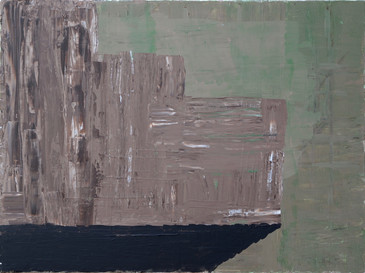 "The Steps 2019. Acrylic on linen, 18"" x 24"""