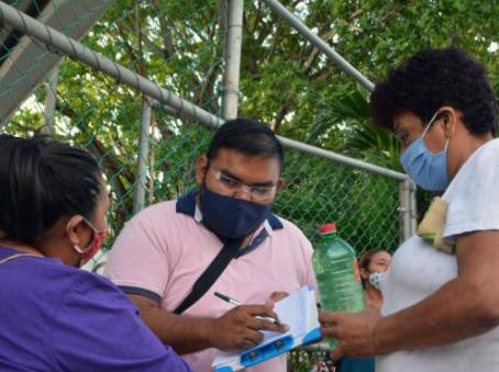 La Ollita Humanitaria visitó la Región 247 de Cancún.