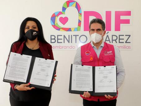 Firma de Convenio con el DIF de Benito Juárez.