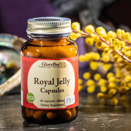 GloryBee Royal Jelly Capsules (60 count)