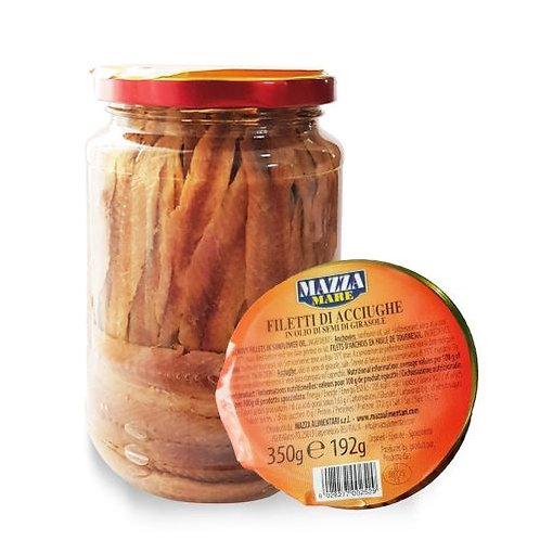 Mazza Anchovies in Sunflower oil 350g