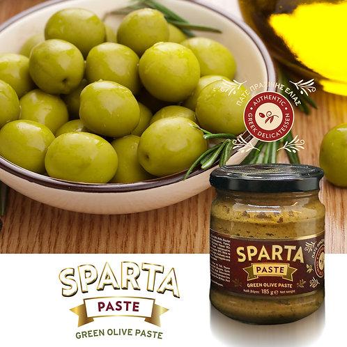 Sparta Green Olive Paste 185g btl