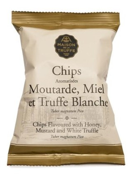 Chips Flavoured with Honey, mustard and white truffles 100g