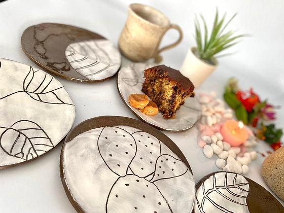 Set of 5 Desert plates