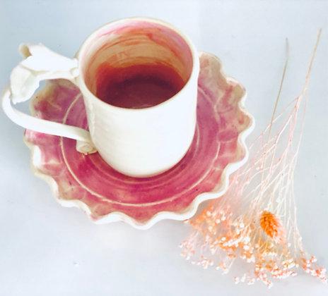 Teatime mug & plate set