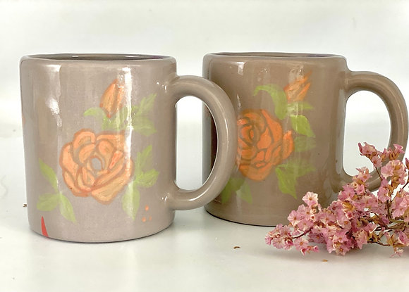 Handpainted  pair of mugs