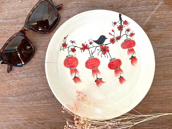 Handpainted lantern plate