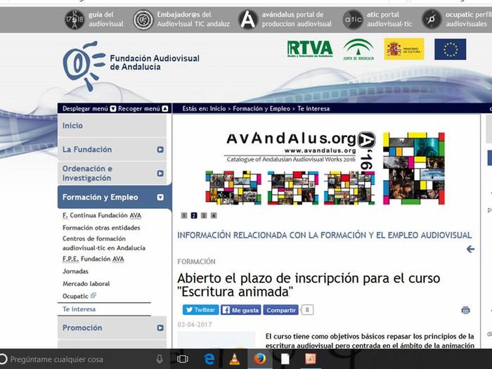 """""""Escritura animada"""" en la Fundación Audiovisual de Andalucía"""