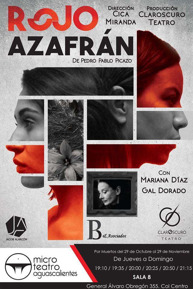 """Cartel de """"Rojo Azafrán"""""""