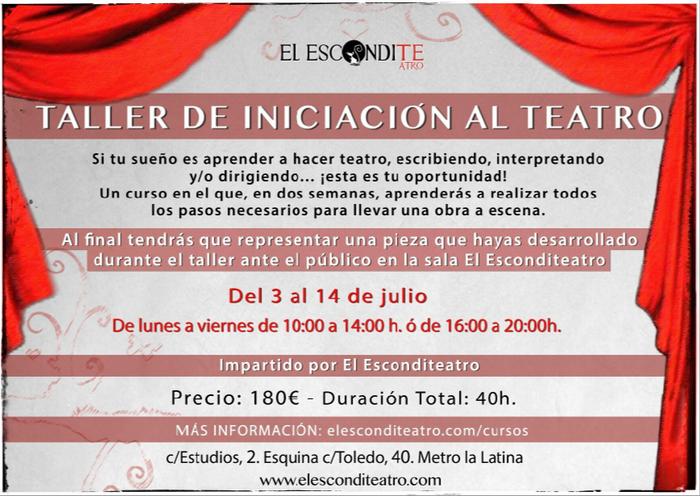 """""""Taller de Iniciación al Teatro"""" en Madrid"""