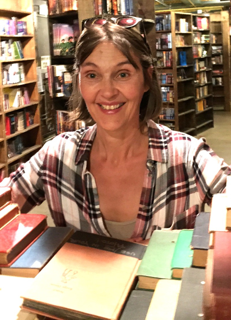 Evelyne at The Last Bookstore in Los Angeles