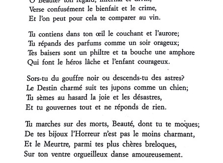 Hymn to Beauty, from Baudelaire's Les Fleurs du Mal
