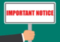 important-notice-sign-flat-concept-vecto