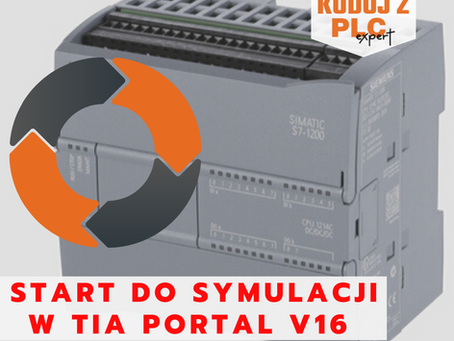 Start do symulacji w TIA Portal V16