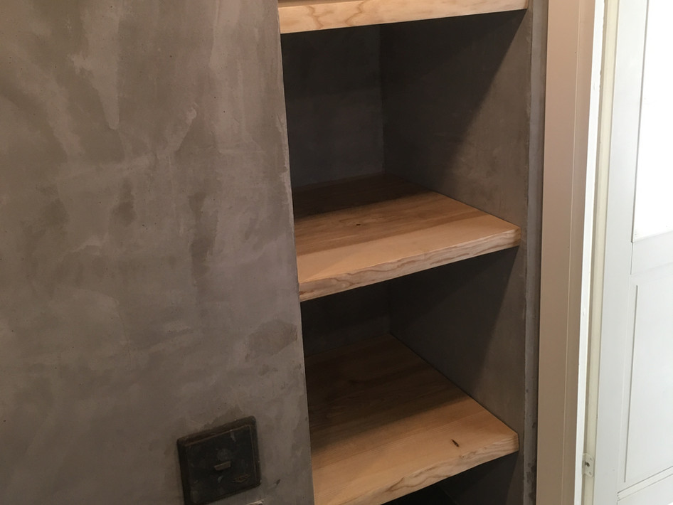 Sauna Building Shelves