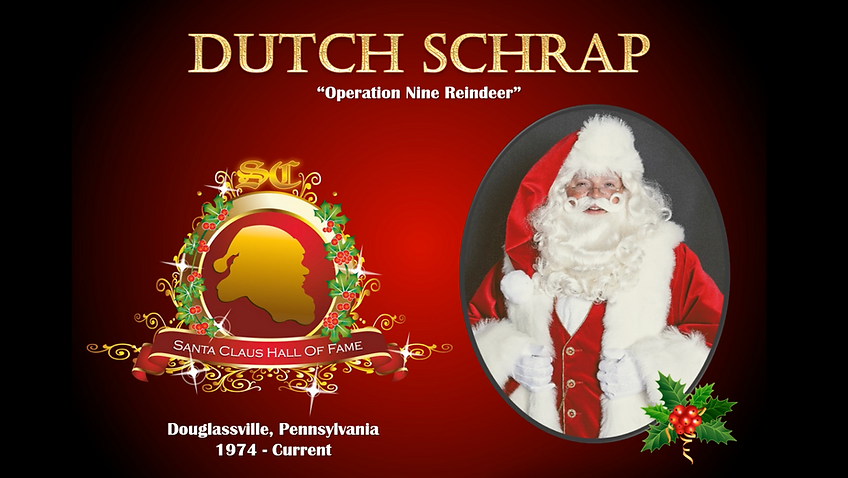 Dutch Schrap International Santa Claus Hall of Fame credentials