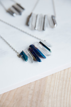 Waterfall Quartz Long Necklace