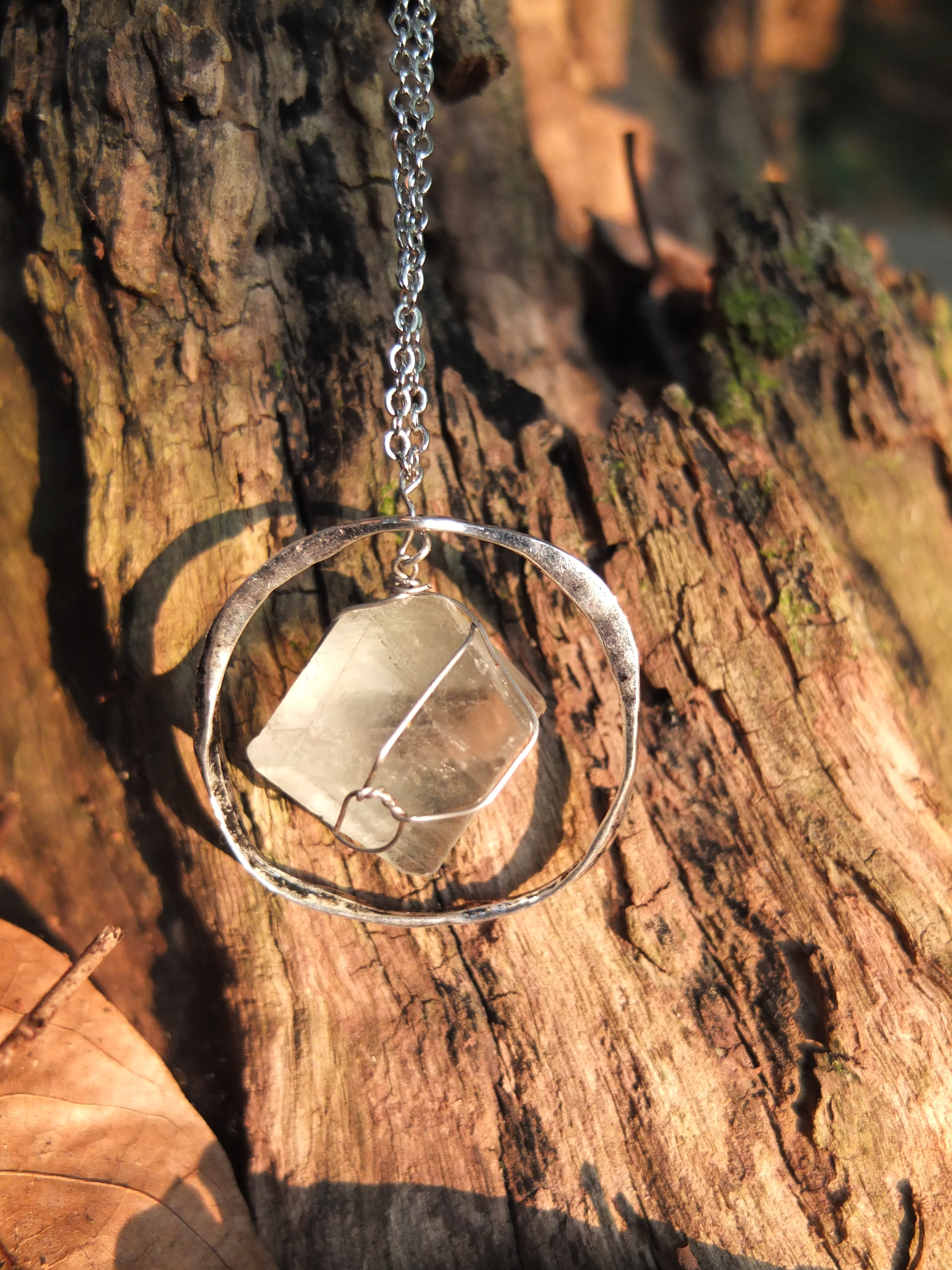 Wire Wrap Crystal Necklace