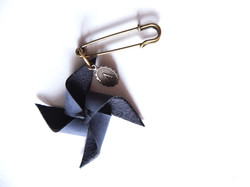 Windmill Brooch with charm